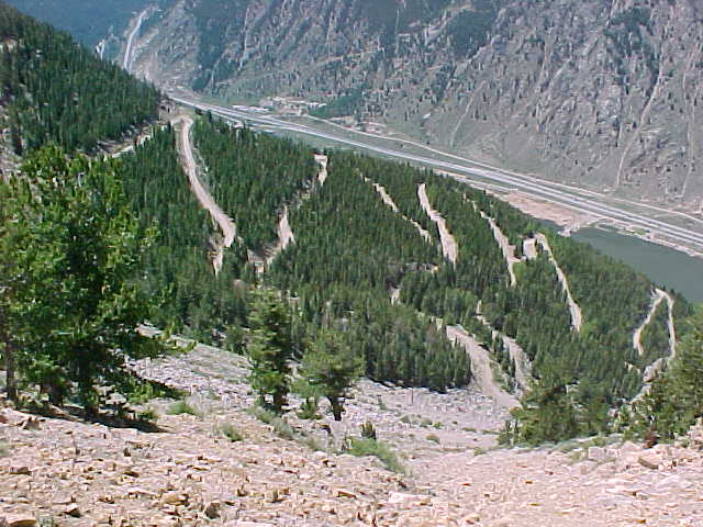 Switchbacks.