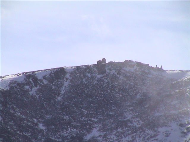 Telephoto shot of the Observatory on the summit of Mt. Evans