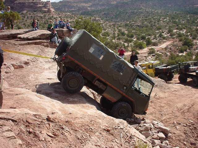 This photo of Paul's Pinzgauer shows how steep it really was.